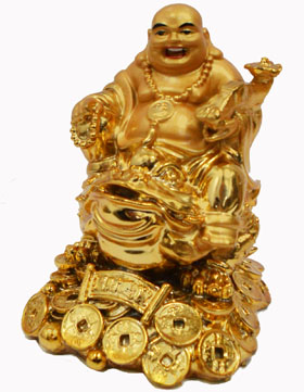 ST23580 Golden Buddha On Toad-36/case